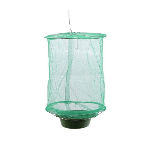 FWQW Ranch Fliegenfalle Effektive Falle mit Lebensmittelköder Fliegen hängenden Netzkäfig für Parks, Ranch, Bauernhöfe, Müllräume und mehr