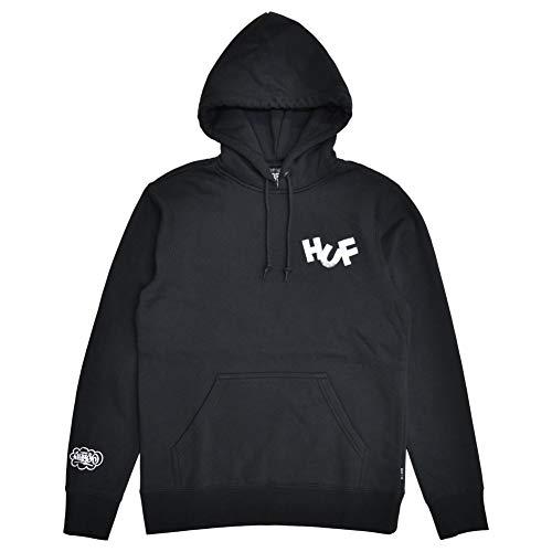 [HUF(ハフ)] HAZE BRUSH P/O HOODIE プルオーバー パーカー PF00369 [並行輸入品] BLACK Mサイズ