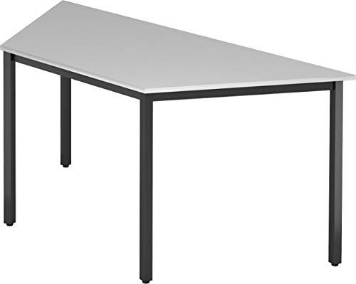 bümö® Konferenztisch | Besprechungstisch für das Büro | Schreibtisch in 3 Farben & 4 Größen verfügbar | Büroschreibtisch (Grau, L = 160 cm...