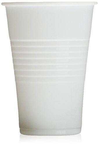Mical - Vaso Plástico Blanco - 100 unidades