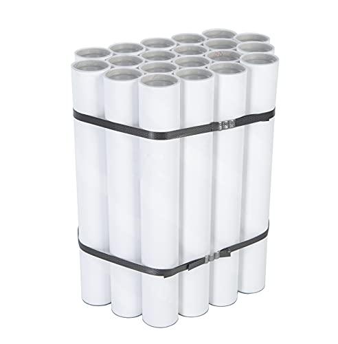 IMBALLAGGI.POINT - 15 pezzi TUBI CARTONE con TAPPO PLASTICA SPEDIZIONI POSTALI ALTEZZA 470mm x 50mm DIAMETRO BIANCHI FORMATO A2 POSTER