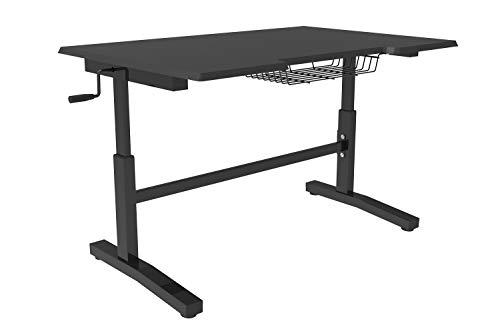 E-WIN パソコンデスク 高さ調節可能 幅116㎝×奥行76.5㎝ マット仕上げ スタンディングデスク 昇降テーブル ...
