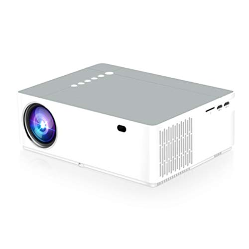 HD-Projector, 5800 Lumen 1080P LED Full HD-Video Beamer Met Afstandsbediening, Home Theatre-Systeem Media Player, LED Micro Movie Projector USB, HDMI, VGA, Audio En AV