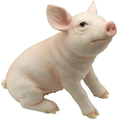 Baby Pig Pink Piglet Sitting # 76102 Farm Animal Figurine