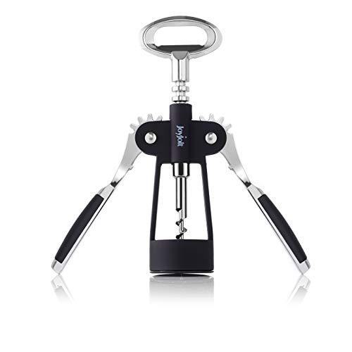 JoyJolt Bottle Opener – Heavy Duty Metallic Wine Openers – Multipurpose Corkscrews for Wine Bottles and Beer – Ergonomic and User Friendly – Ideal for Home Use Bar Restaurant