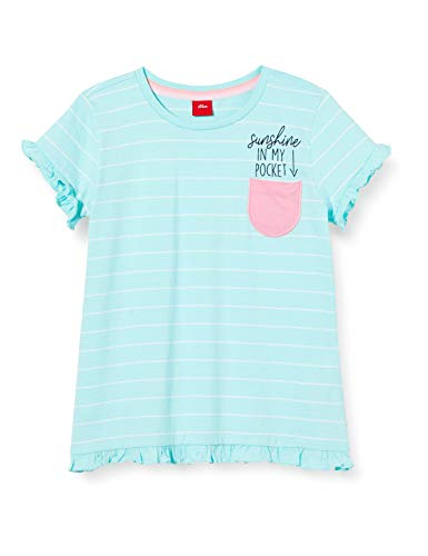 s.Oliver Junior Mädchen 403.10.004.12.130.2037900 T-Shirt, 60G0 Angel Blue Stripes, 92/98/REG
