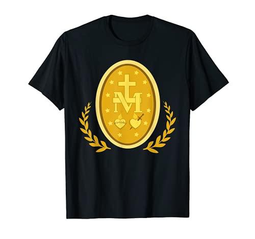 Medalla Milagrosa De Inmaculada Concepción Católica Mariana Camiseta