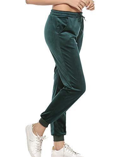 Aibrou Pantaloni Yoga da Donna a Gamba Larga con Tasche, Pantaloni Flare Lunghi a Zampa Elefante, Pantaloni Elastici per Yoga, Pilates, Danza, Fitness, Palestra, Allenamento e Meditazione