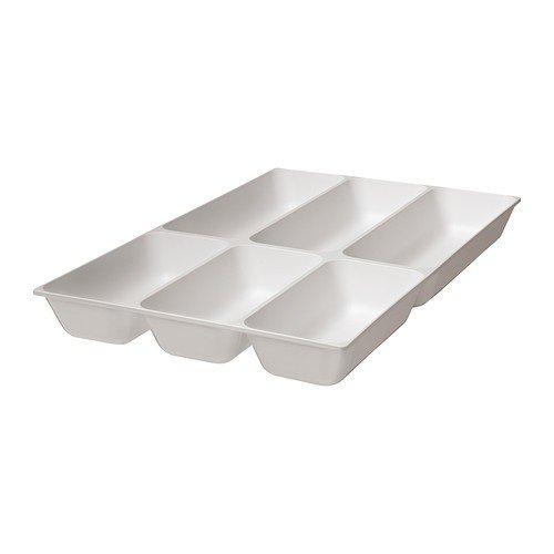 IKEA VARIERA Besteckkasten in Hochglanz weiß; (32x50cm)