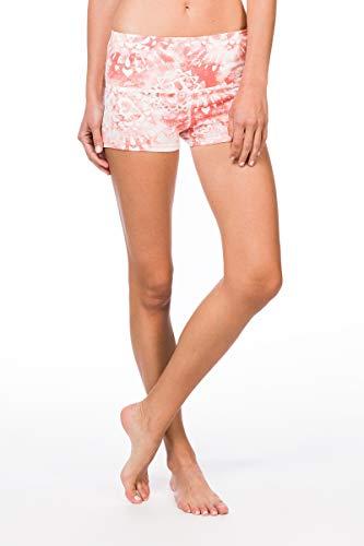 super.natural Bequeme Damen Shorts, Mit Merinowolle, W SUPER SHORTS PRINTED, Größe: S, Farbe: Weiß/Rosa