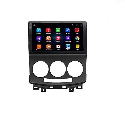 ZHFF Android 9.0 Car Stereo Radio Sat Nav Compatible con Doble DIN Mazda 5 2005-2010 Navegación GPS Pantalla táctil de 9 Pulgadas Unidad Principal Reproductor Multimedia Receptor de Video WiFi