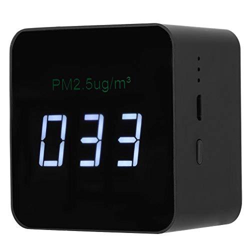 Fdit USB Mini PM2.5 Detector zwart oplaadbare luchtkwaliteit tester monitor met LED-display voor woonaccessoires MEERWEG AANBIEDING socialme-eu