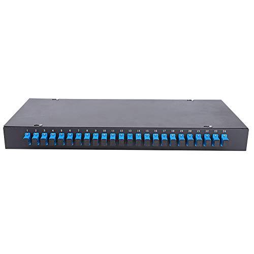 Estable montado en la pared de la caja terminal óptica de la caja del panel de remiendo negro para electrónico