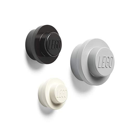 Room Copenhagen Lego-Set Appendiabiti da Parete, White, Black, Grey, Taglia Unica