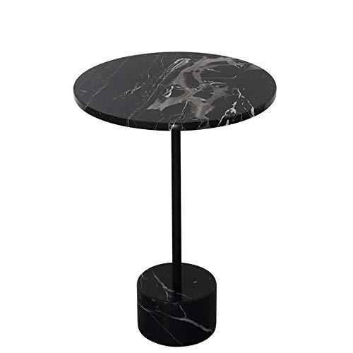 Carl Artbay Home&Selected Furniture/Nordic mármol Lateral Mesa Redonda Mesa de Esquina Tabla Dormitorio Mesilla de Noche Negro 40 * 55CM