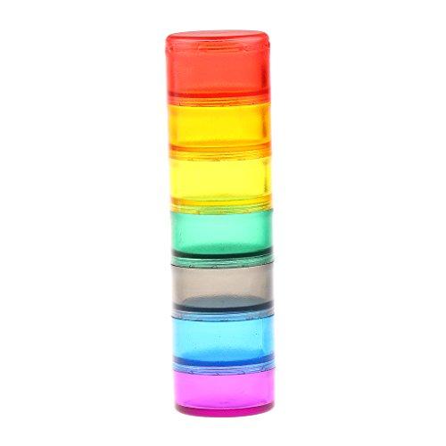 AIHONG Portátil Caja de píldora de Almacenamiento semanal Colorido 7 Día Medicina Tableta Vitamina Cápsula Caso Organizador para Pastillas/Suplementos