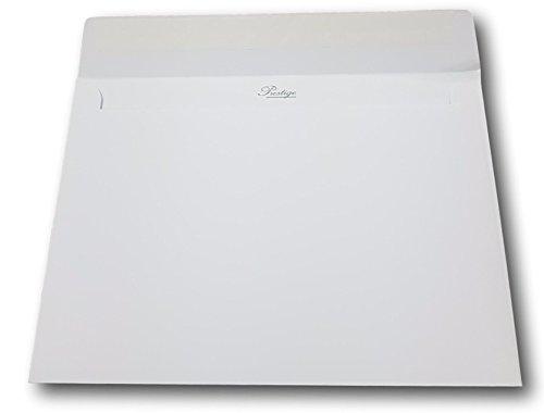 Lot de 250 - Enveloppe blanche Prestige C5 162 x 229 mm (A5, A4 plié en 2) Papier extra blanc épais 135 g, Patte autocollante pour carte de vœux, noël, invitation et mariage ref UGEVPRR127