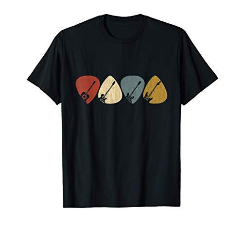 Gitarren-Auswahl-Geschenk für Gitarristen Retro Vintag T-Shirt