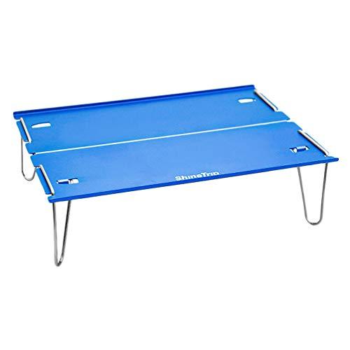 CLISPEED Table de Camping Pliante Table Pliante en Aluminium Léger Portable pour Pique-Nique en Plein Air Cuisson Barbecue Table Pliable Couleur Aléatoire