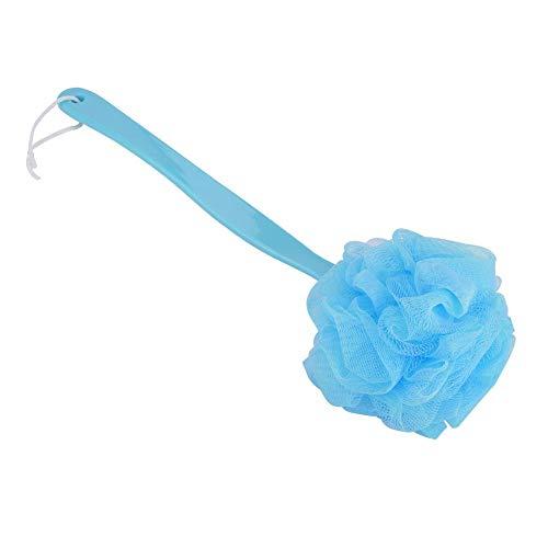 Cepillo de Baño de Malla de Esponja de Mango Largo Ducha Exfoliante Ducha Limpiador de Cuerpo Suave Lavadora Accesorios de Baño para Mujeres(Blue)