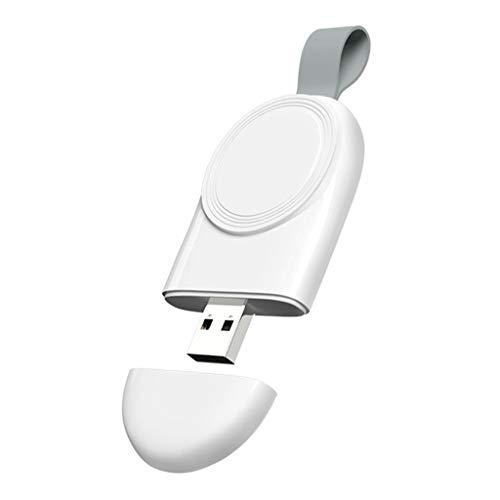 H HILABEE Cargador USB magnético portátil de Viaje Cargador USB de Carga rápida inalámbrica para Apple Watch Series 4 3 2 1 Ligero y cómodo de Llevar