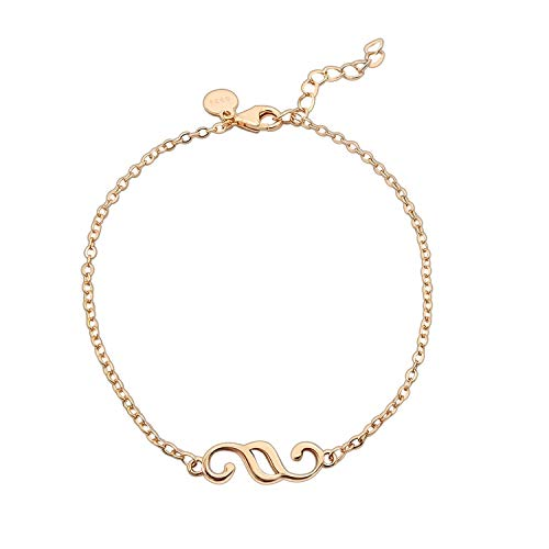 Lawellery Paragraphen Anhänger Armkette 925 Silber Armband, Schmuck für Juristen Vergoldet - Rosé Gold (19cm Länge) - Paragraph Love