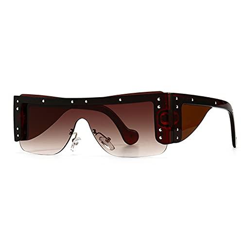 Piso Top Gafas de sol Sungless Rimless Square One Piece Eyewear Hombres Mujeres Gafas elegantes