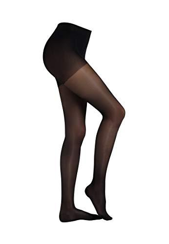 Camano Damen Stützstrumpfhose mit angenehmer Stützfunktion black, 42/44