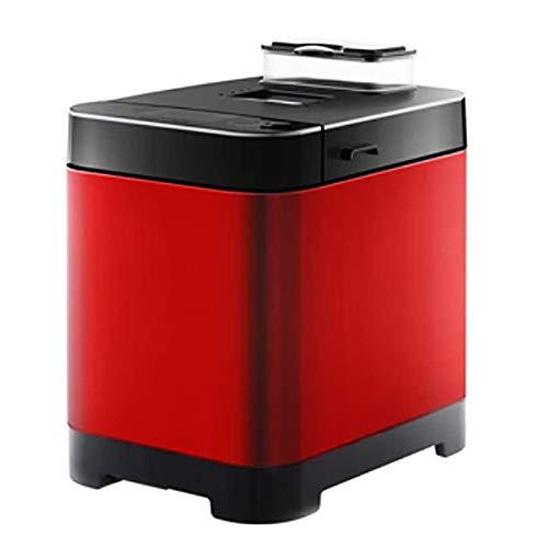 Automatische programmeerbare multifunctionele broodmachine met 18 programma's en automatische heepdispenser, fruitnoot gluten-vrije instelling. 26x32x34cm(10x13x13inch) rood