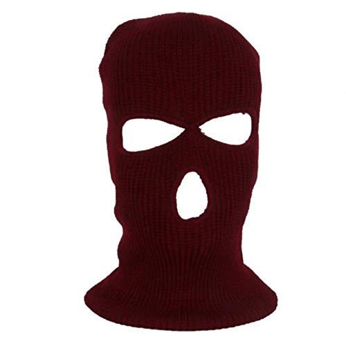QFYD FDEYL Pasamontañas Termico máscara,Tácticas de Viento y esquí-Red_3 Hoyos,Balaclava Moto Buff