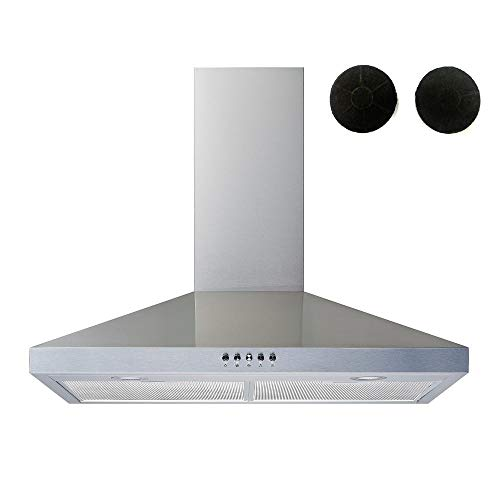"Winflo 30"" Convertible Stainless Steel Wall Mount Range Hood with..."