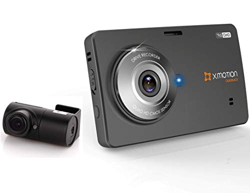 XMOTION L30 Dashcam QUADBLACK QHD Front (1440p) and Rear (1080p) 2 Ch Black Box 32GB