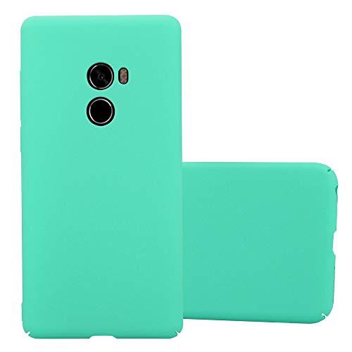Cadorabo Funda para Xiaomi Mi Mix 2 en Frosty Verde - Cubierta Protección de Plástico Duro Super Delgada e Inflexible con Antichoque - Case Cover Carcasa Protectora Ligera