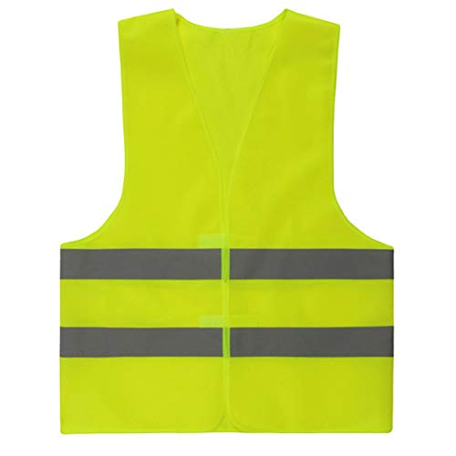 Chaqueta de Alta Visibilidad Coche Reflectante Chaleco de Seguridad de Seguridad de Emergencia Chaleco reflexivo de Malla Fluorescente Green