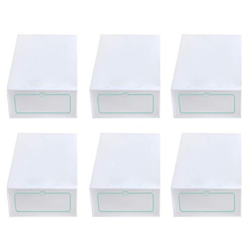 Yardwe Caja de almacenamiento de zapatos de plástico transparente apilable de 30 piezas con organizador de zapatos de tapa