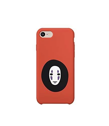 GlamourLab Spirited Away - Carcasa rígida para iPhone 6, 7, 8 Plus, XS, XR, diseño con Texto en inglés No Face Mask Mythic_R4326
