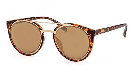 CATWALK Verspiegelte Damen Sonnenbrille/Rundes Modell mit Doppelsteg F2502368