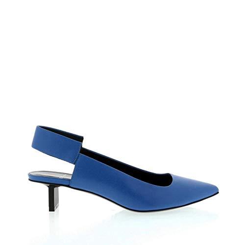 Pierre Hardy Blue Satin Calf Slingback US 8.5 / Italian 38.5 Blue