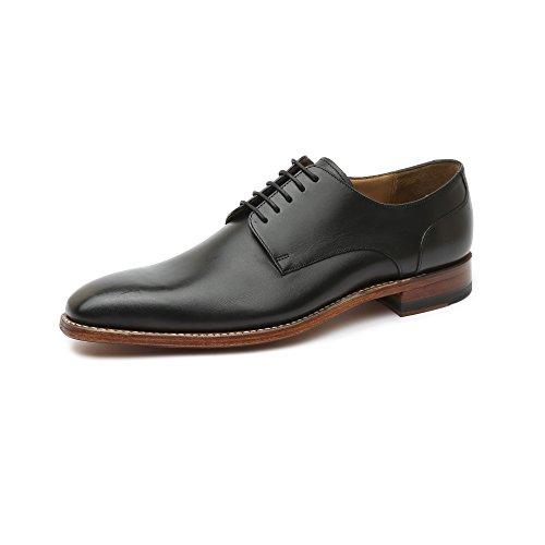 Gordon & Bros Milan 4374-F Herrenschuhe Herren Businessschuhe, Schnürhalbschuhe, Anzugsschuhe, Derby Schuhe, Goodyear Schwarz (Torino Black Antique tan), EU 43