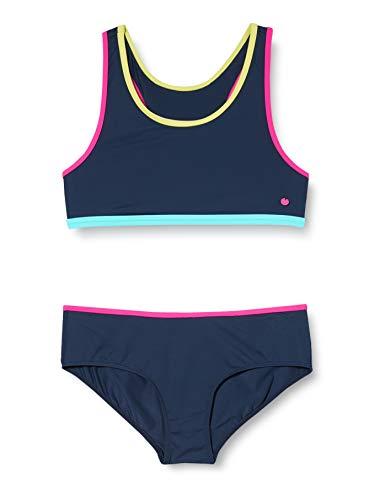 ESPRIT HYDE BEACH YG       bustier+hipster short Bikini-Set, Mädchen, Blau 164
