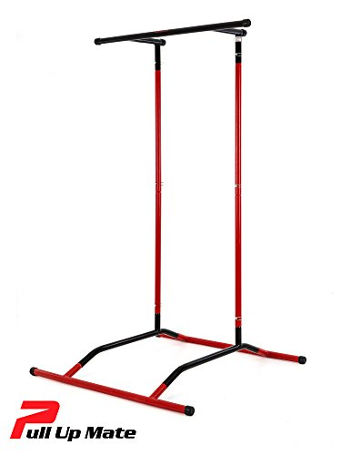 Pull Up Mate (no bag) - Freestanding, Portable Pull Up Bar & Dip Station. Multi-functional, Hundreds of Bodyweight/Calisthenics Exercises, Great for Circuit and Functional Training
