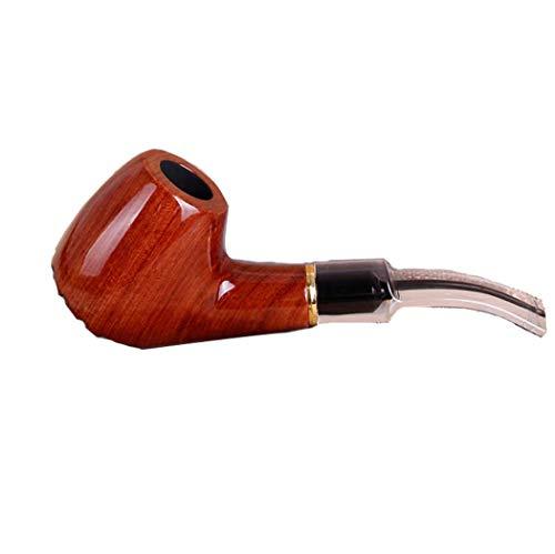 LHFJ Tabaco para Pipa de Fumar Tubo de Fumar de Palo de Rosa Forma de Martillo clásico Tubo doblado con Accesorios