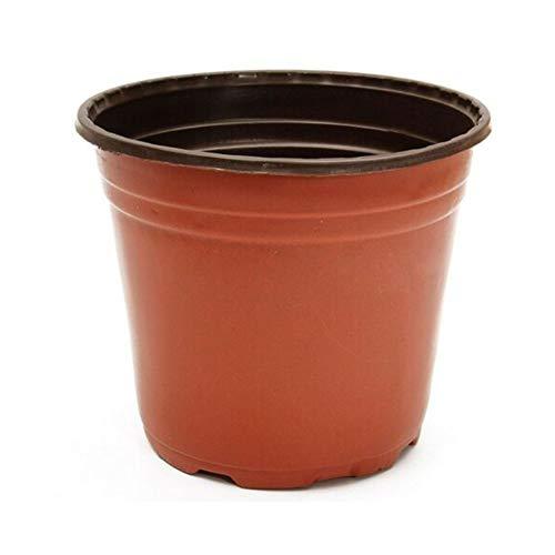 100Pcs Plastik Pflanzen Töpfe Blumentopf, Jungpflanzen Samen Töpfe Pflanze Behälter, Gartenarbeit Kindergarten Töpfe mit Belüftung Funktion, 9 Größen für Auswahl - 10x8.5x9.5cm