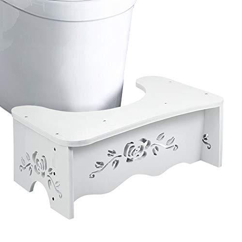 Ejoyous Toilettenhocker Badezimmer WC Hocker Squatty Potty Schemel für gegen Hämorrhoiden Verstopfung Reizdar Blähungen Blähbauch Toilettenhocker, Anti-rutsch Tritthocker, 49,6 x 29,5 x 5,3 cm