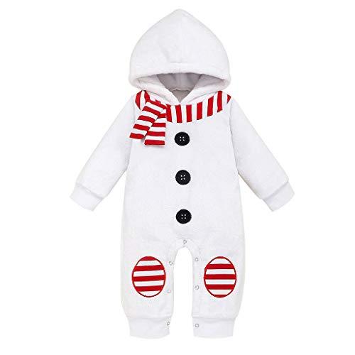 BBSMLIN 0-24 Meses Bebe Niña Navidad Disfraz Ropa Mameluco de Muñeco de Nieve