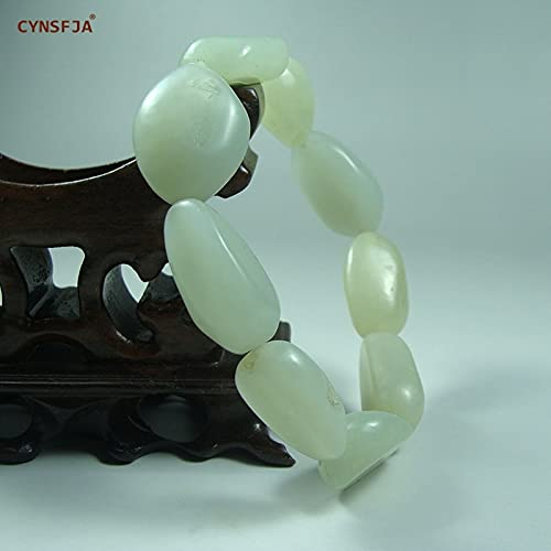 Lorraine Real Certified Natural Hetian Jade Nephrite Men's Charm Amulets Jade Bracelets Fine Jewelry Wonderful Gifts