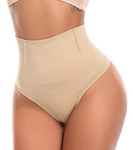 MISS MOLY Tanga Braga Barriga Mujer Braguita Moldeadora Shapewear Body Shaper Cintura Alta sin Costuras Ropa Interior Lencería Elástico