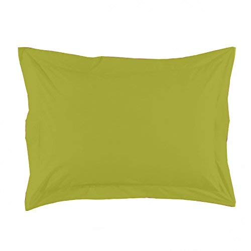 Essix Home Collection, Federa in Percalle, Verde, 50 x 70 cm