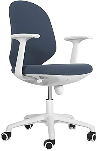 Duwen. Drehbar Bürostuhl Büro Stoff Operator Stühle, Computerstuhl Ergonomische Bürostuhl Kompakte Drehstuhl Student Study Student Schreibtischstuhl Computer Schreibtischstuhl (Color : Blue)