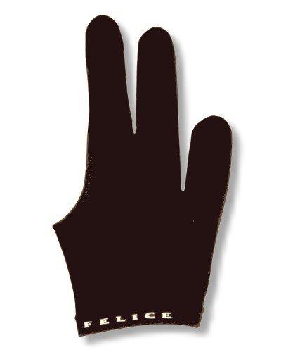 Winsport Billardhandschuh Felice schwarz beidhändig